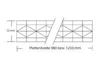 Stegplatte 32 mm Polycarbonat Hagelfest