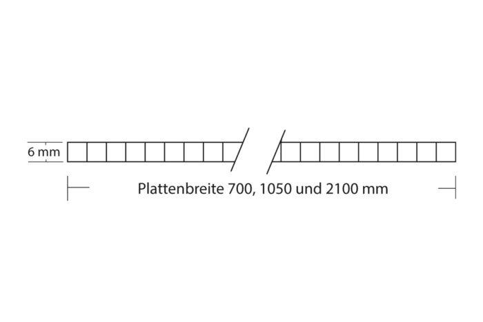 Stegplatte 6 mm hagelfest Polycarbonat