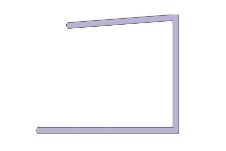 PC Abchlussprofil U aus Polycarbonat