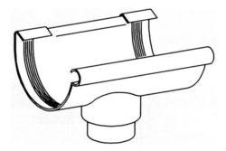 Stutzen Kunststoff Dachrinne 100 mm
