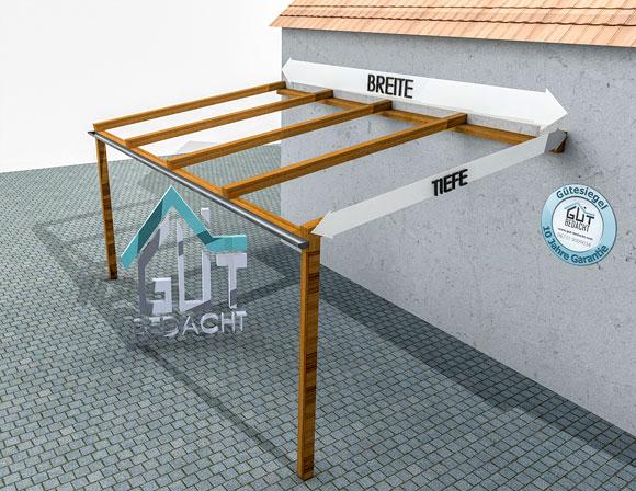 Angebotsanfrage für transparente Überdachung aus Stegplatten