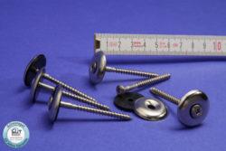 Sogsicherung Edelstahl 25 mm Dichtscheibe für Holz Unterbau