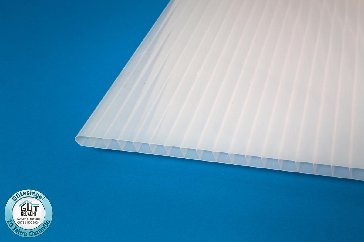kunststoff polycarbonat stegplatten 10 mm st rke hagelsicher klar opal. Black Bedroom Furniture Sets. Home Design Ideas
