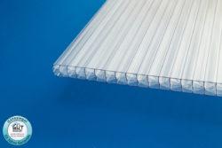 Polycarbonat Stegplatte 16 mm Fachwerk klar für Terrassenüberdachung