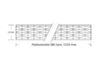 Stegplatte 32 mm Polycarbonat Hagelfest 11 Fach