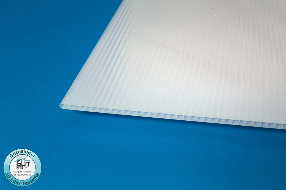 stegplatte polycarbonat 6 mm st rke hagelsicher klar f r. Black Bedroom Furniture Sets. Home Design Ideas