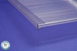 PC Abschlussprofil U Polycarbonat für Stegplatten 6,10,16 mm