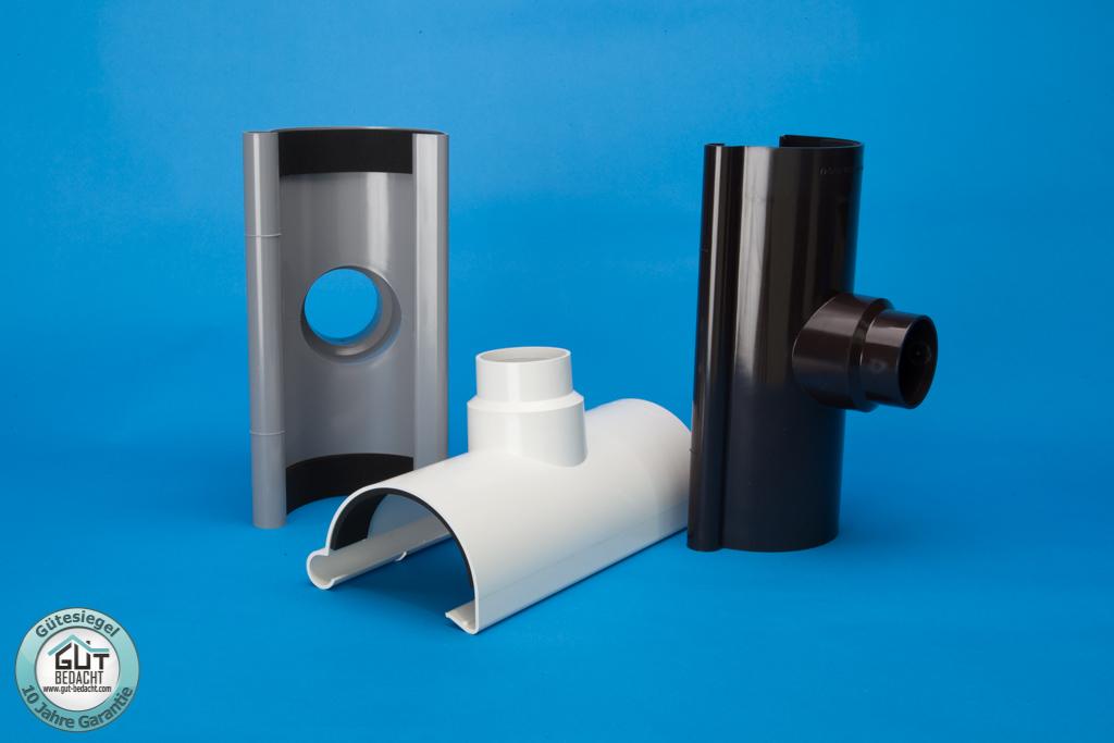 stutzen kunststoff rinne s lon wei braun grau oder. Black Bedroom Furniture Sets. Home Design Ideas