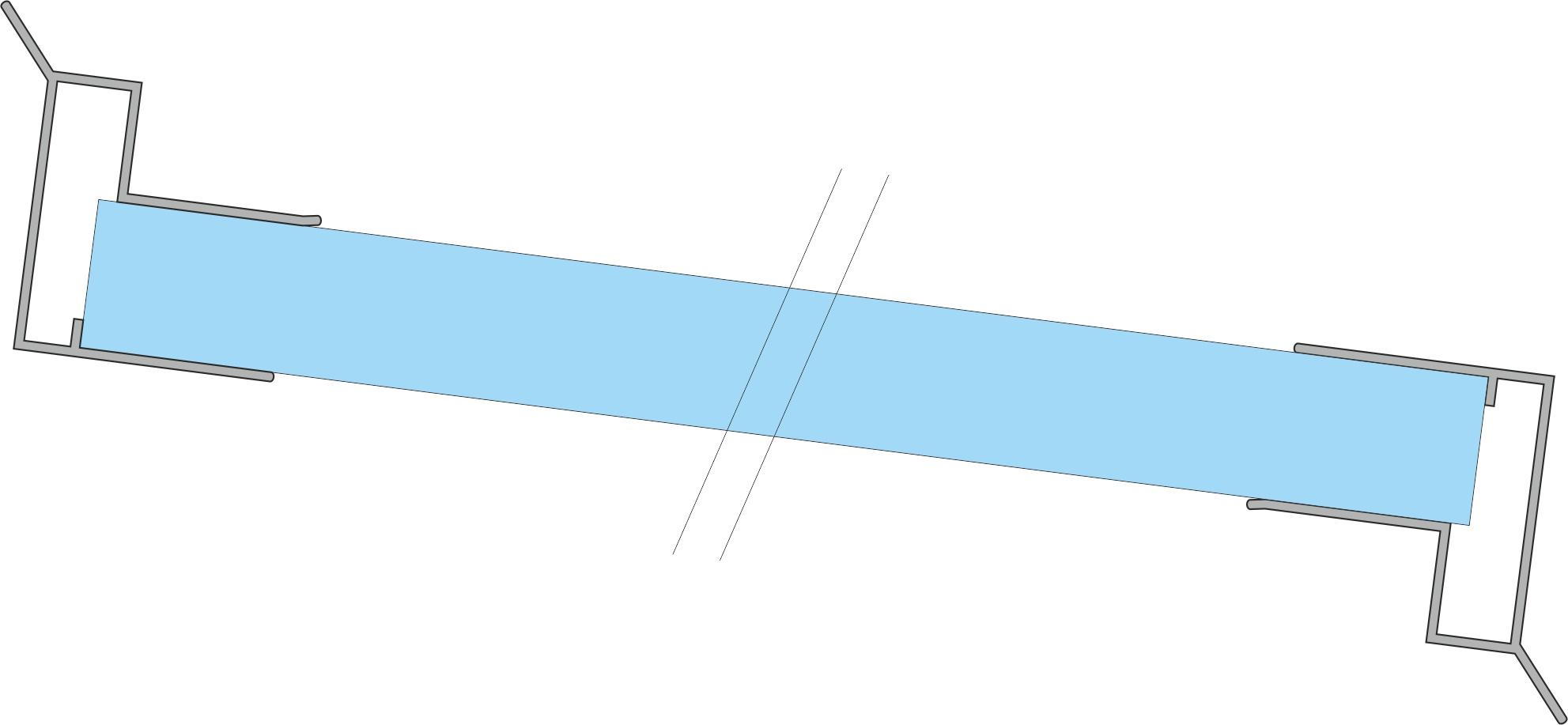 Alu Abschlussprofil große Trpfkante oben unten montiert