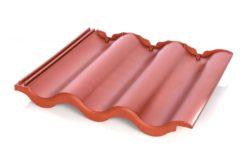 Kunststoff Dachpfanne - Dachziegel rotbraun
