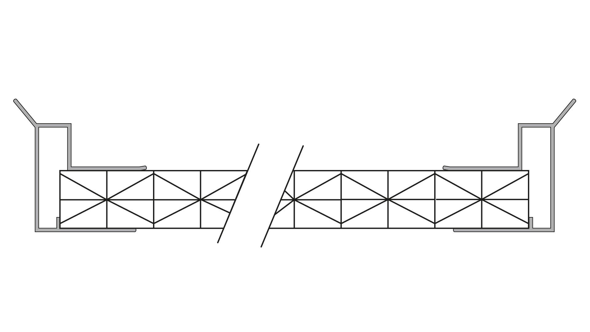 Gro0e Tropfkante seitlich montiert auf Stegplatten