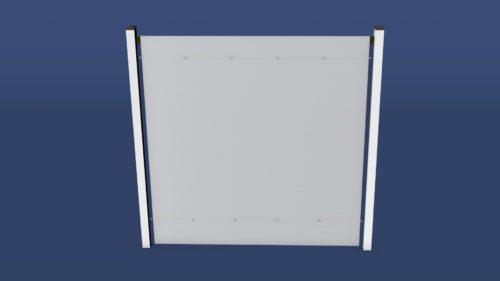 Sichtschutz Zaun Eva in 2000 x 2000 mm