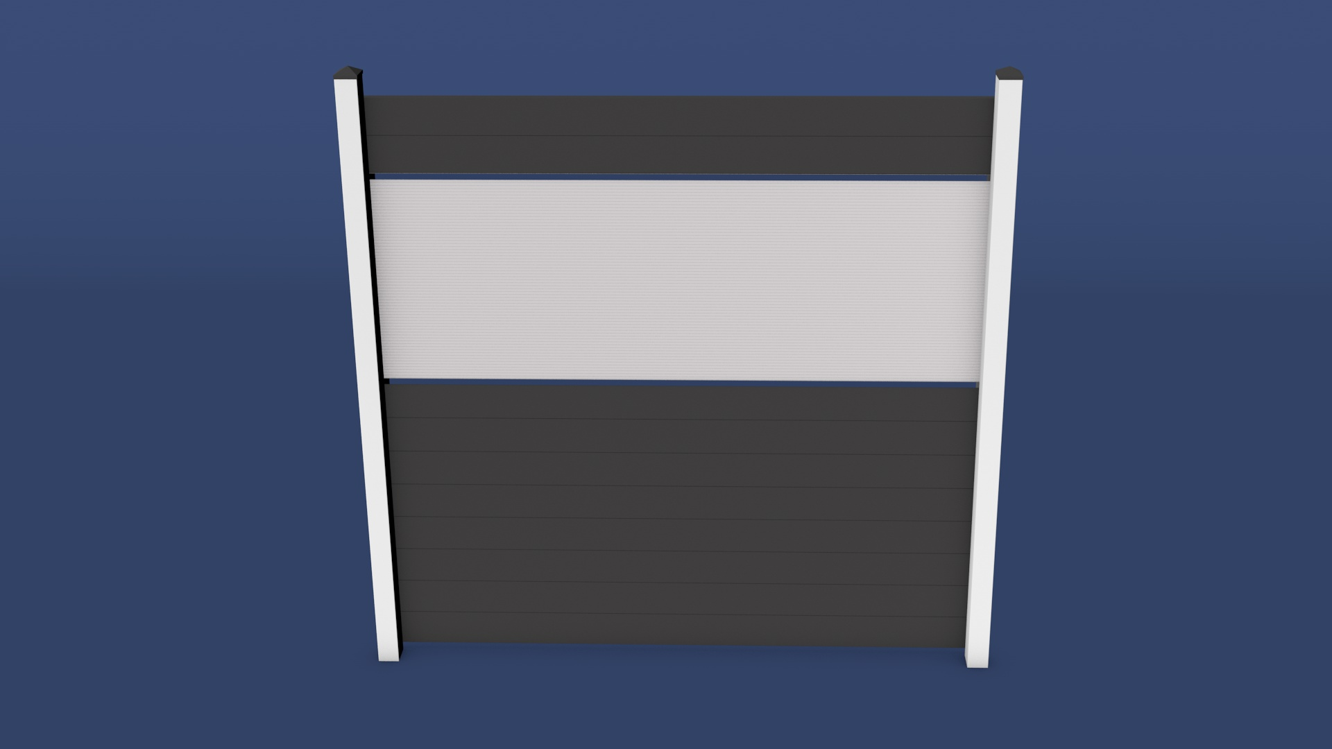 Kunststoff Zaun Kolja Idealer Sichtschutzzaun in 2000 x 2000 mm