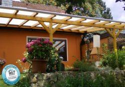 Komplett Set Dach inkl. Unterbau mit Stegplatten