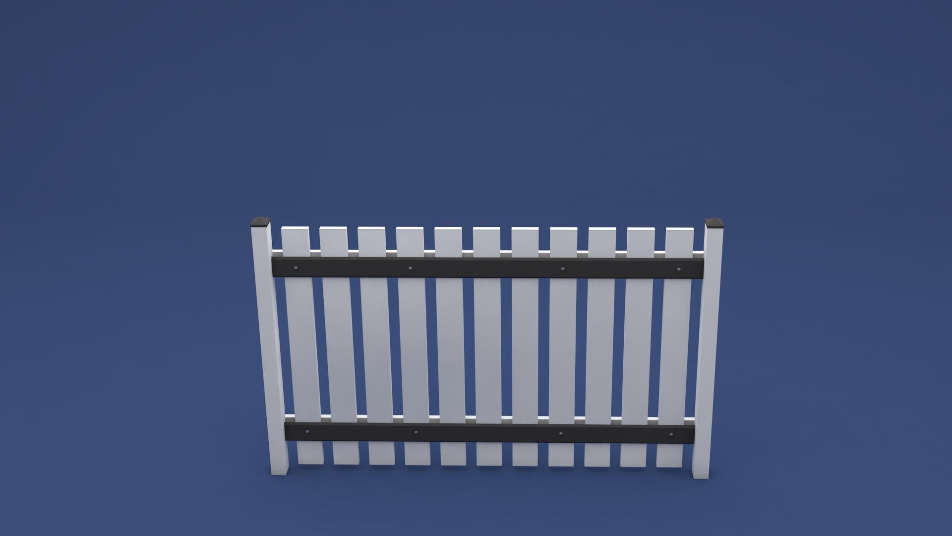 zaun lisa in 2000 x 1250 mm aus wartungsfreien kunststoff in wei. Black Bedroom Furniture Sets. Home Design Ideas