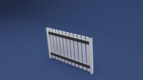 Zaun Lisa aus Kunststoff idealer Grenzzaun