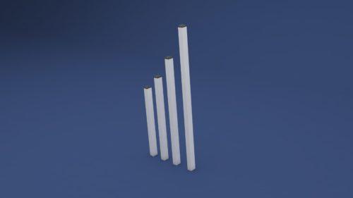 Kunststoff Pofsten für Zaun in Weiß