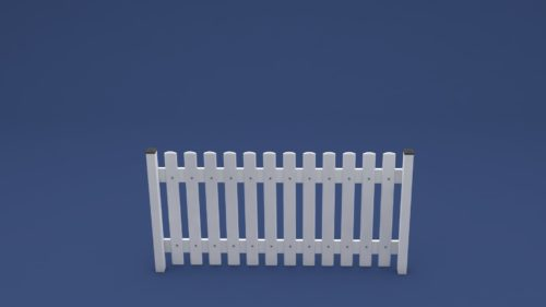 Kunststoff Zaun Rolf gerade in weiß