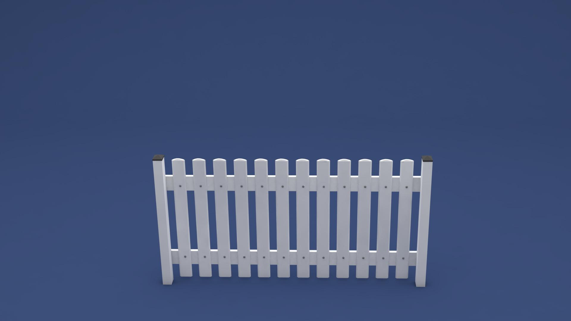 Hochwertiger Kunststoff Zaun Rolf in 2000 x 1100 mm Höhe in weiß