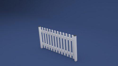 Zaun Rolf gerade aus Kunststoff