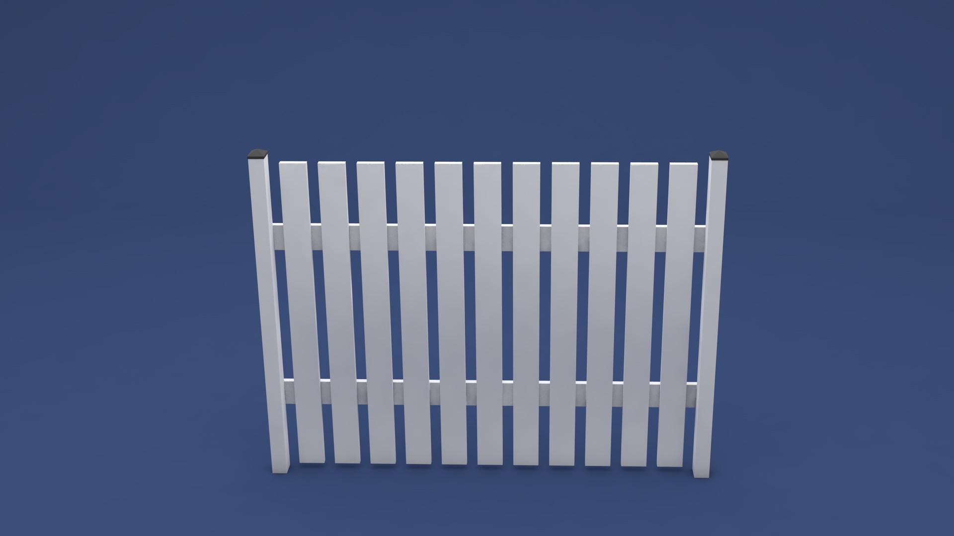 Susi Kunststoff Zaun weiß