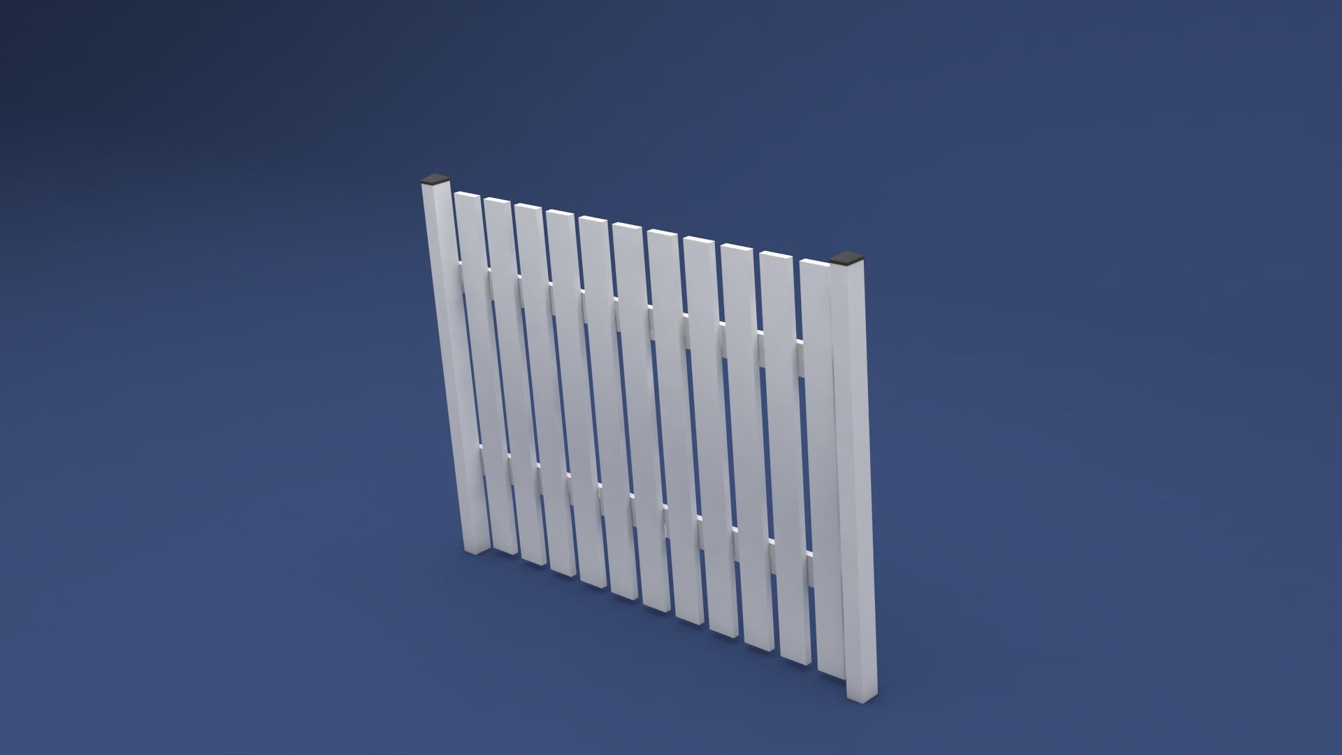 Kunststoff Zaun Susi in 2000 x 1600 mm aus langlebigen Kunststoff weiß