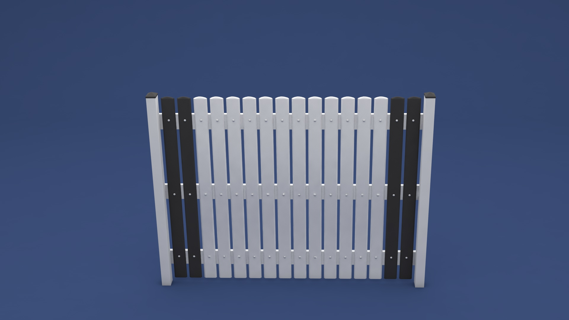 Kunststoff Zaun Victor in 2000 x 1600 mm aus langlebigen Kunststoff