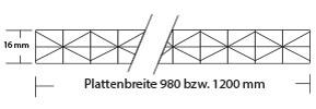 Meistverkauftes 16 mm Stegplatte Fachwerk hagelfest Polycarbonat