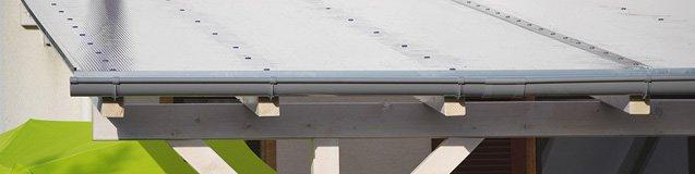 Stegplatte 10 mm hagelfest Terrassenüberdachung