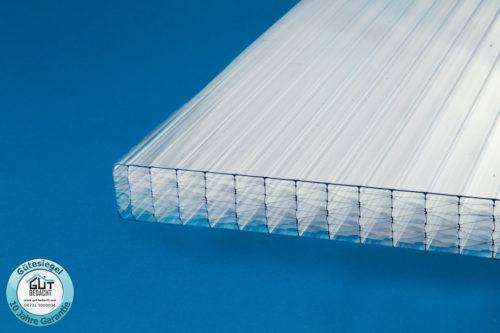 11-Fach Polycarbonat Stegplatte 32 mm klar für Wintergarten