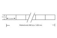 Polycarbonat Stegplatte 16 mm Breitkammer extra stabil Struktur