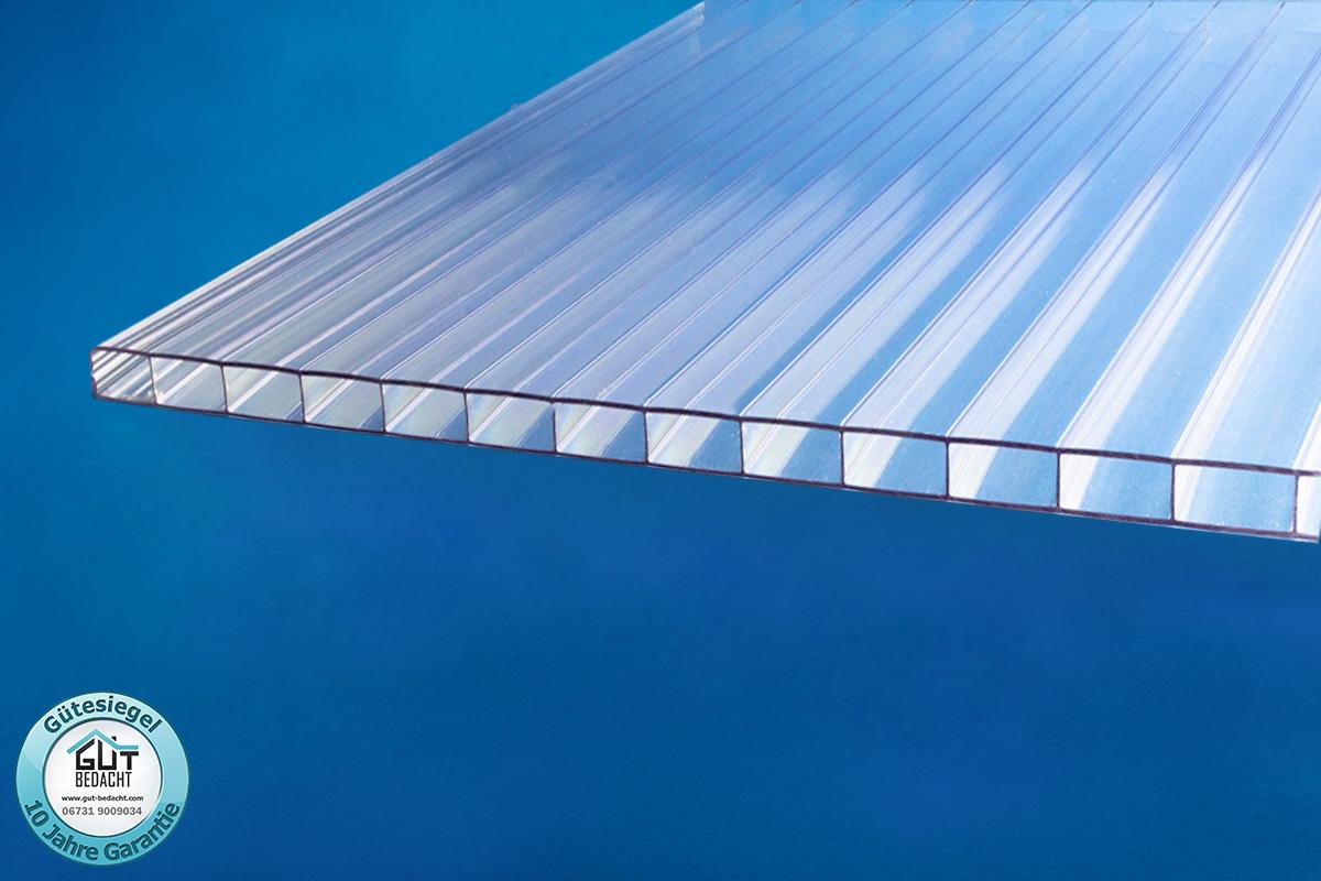 Polycarbonat Stegplatten 16 mm X-Struktur klar 2000 x 1200 x 16 mm