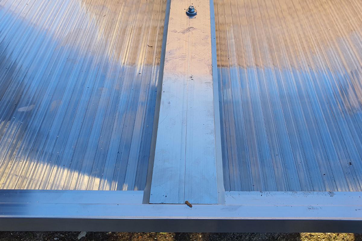 Aluminium Stirnseiten Abschlussprofil mit großer Tropfkante